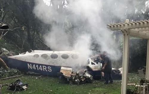 Chiếc máy bay bị vỡ sau khi rơi. Ảnh: Instagram.