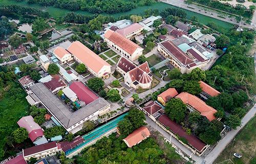 Khu nhà thờ Thủ Thiêm. Ảnh:Quỳnh Trần.