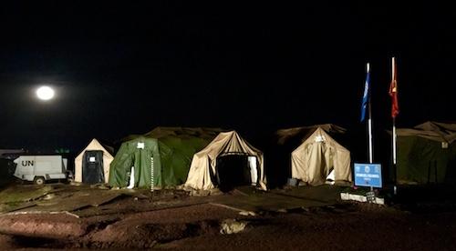 Khu lều bạt - nơi đóng quân của bệnh viện dã chiến cấp 2 số 1 của Việt Nam ở phái bộ gìn giữ hoà bình Liên Hợp Quốc tại Nam Sudan.