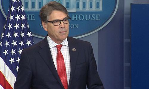 Bộ trưởng Năng lượng Rick Perry. Ảnh: CNN.