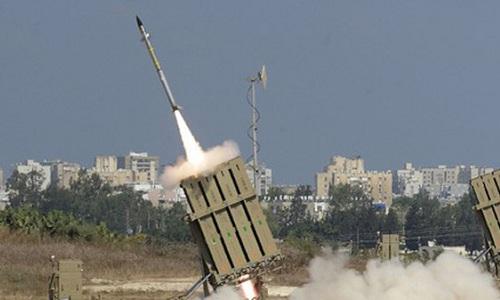 Hệ thống phòng thủ Vòm sắt của Israel khai hỏa. Ảnh: Times of Israel.