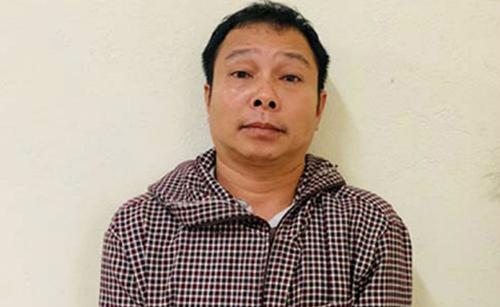 Nghi can Lộc Văn Đương tại cơ quan điều tra. Ảnh: Lam Sơn.