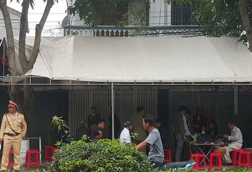 Ngôi nhà nơi xảy ra án mạng. Ảnh: Nguyễn Hải.