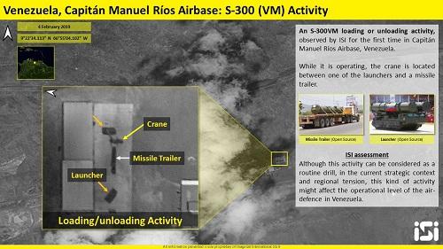 Ảnh vệ tinh chụp bệ phóng và xe chở tên lửa S-300 của Venezuela. Ảnh: ISI.