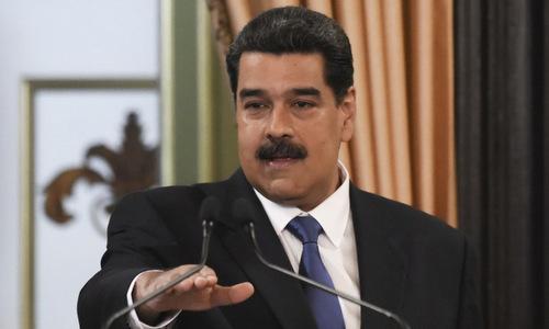 Tổng thống Maduro phát biểu tại Caracas hôm 8/2. Ảnh: AFP.