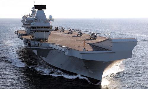 HMS Queen Elizabeth thử nghiệm trên biển hồi năm 2018. Ảnh: Royal Navy.