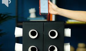 Cách làm loa từ cốc giấy và thùng carton