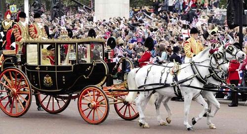 Xe ngựa của nữ hoàng Anh Elizabeth II.