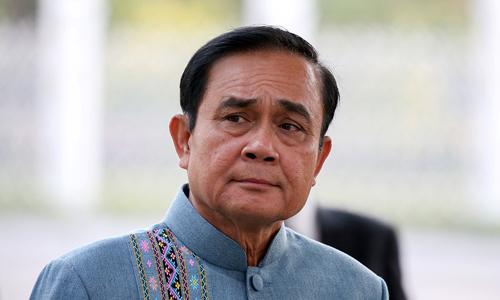 Thủ tướng Thái LanPrayuth Chan-ocha đến một cuộc họp nội các ở văn phòng chính phủ tại thủ đôBangkok, Thái Lan vào ngày 8/1. Ảnh: Reuters.
