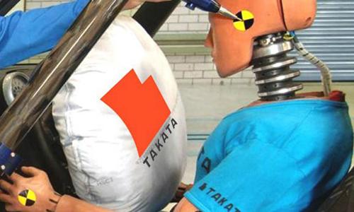 Mô phỏng bung túi khí Takata trên ôtô. Ảnh: Autoevolution