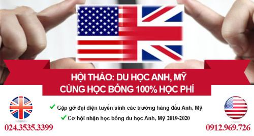 HỘI THẢO HỌC BỔNG 100% CÁC TRƯỜNG ĐẠI HỌC DANH TIẾNG ANH - MỸ (xin bài edit)