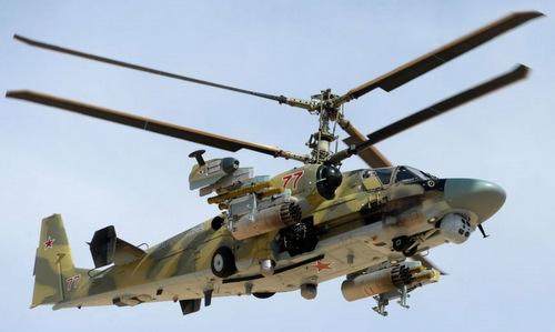 Trực thăng Ka-52 tiếp cận mục tiêu tại Syria năm 2016. Ảnh: Sputnik.
