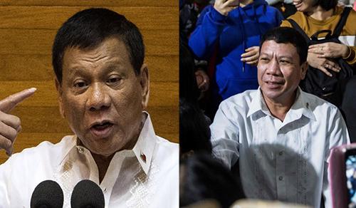 Tổng thống Rodrigo Duterte và bản sao Cresencio Extreme