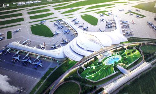 Phối cảnh sân bay Long Thành. Ảnh: PV.