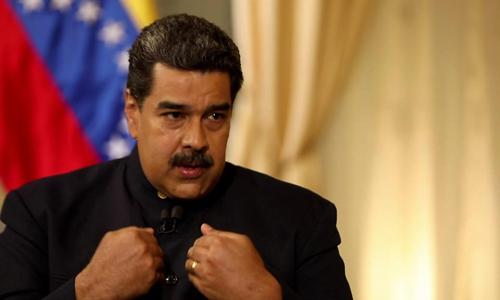 Tổng thống Venezuela Nicolas Maduro trong cuộc phỏng vấn hôm nay tại Caracas. Ảnh: BBC.