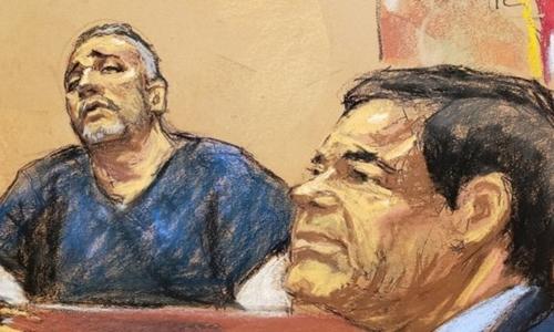 Cifuentes (trái), cộng sự một thời của Guzman, cáo buộc trùm ma túy (phải) từng mua chuộc tổng thống Mexico. Ảnh: Reuters.
