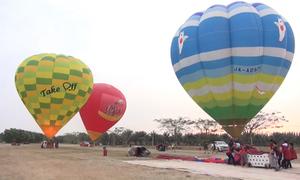 Lễ hội khinh khí cầu Quốc tế ở Mộc Châu trước giờ khai mạc