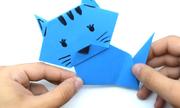 Cách gấp chú mèo giấy trưng bày trong nhà