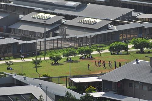 Trại giam người di cư trên đảo Giáng sinh, Australia. Ảnh: AFP.