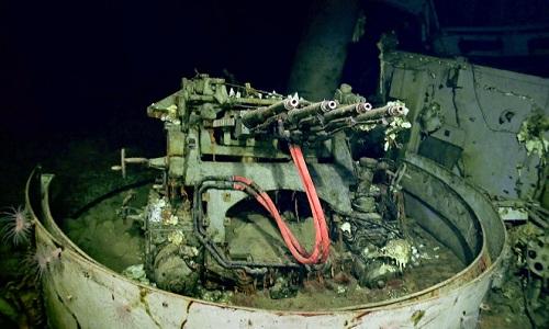 Một ụ súng phòng không của USS Hornet. Ảnh: New York Post.