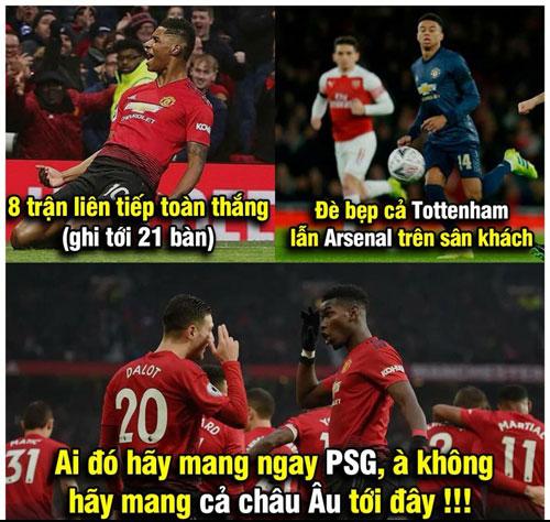 Sau 11 trận bất bại, fan MU rất tự tin.