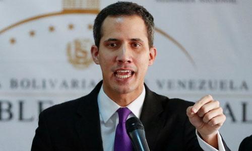 Tổng thống tự phong Venezuela Juan Guaido. Ảnh: Reuters.