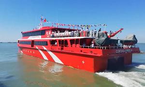 Khai trương tuyến tàu cao tốc hai thân lớn nhất Việt Nam