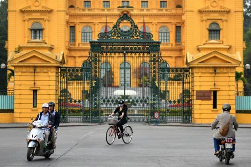 Quang cảnh trước phủ Chủ tịch ở thủ đô Hà Nội. Ảnh: AFP.