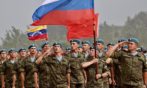Quân nhân Nga diễu hành tại lễ khai mạc hội thao quân sự quốc tế Army Games 2018. Ảnh: BQP Nga.