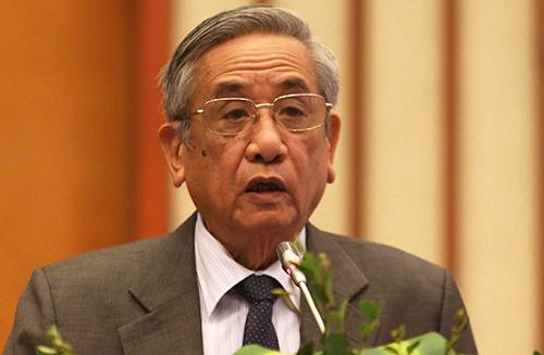 Giáo sư Vũ Dương Ninh tại hội thảo ngày 15/2 ở Hà Nội. Ảnh: Gia Chính