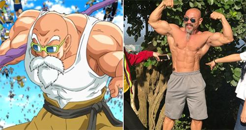 ông Nhon Ly có ngoại hình giống hệtnhân vật sư phụ Roshi, hay còn gọi là quy lão tiên sinh trong bộ truyện tranh Nhật Bản 7 viên ngọc rồng. Ảnh: Next Shark