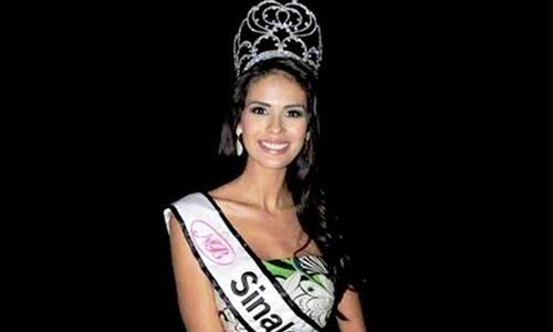 Emma Coronel Aispuro đăng quang trong cuộc thi sắc đẹp ở Sinaloa. Ảnh: CEN.
