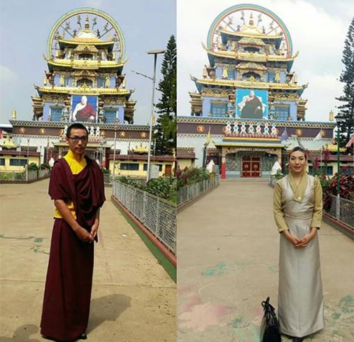 Tenzin Mariko khi còn là một nhà sư và sau khi rời chùa, phẫu thuật chuyển giới. Ảnh: Instagram