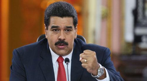 Tổng thống Venezuela Nicolas Maduro. Ảnh: AP.