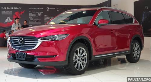 Mazda CX-8 trong buổi ra mắt tại Malaysia giữa tuần qua. Ảnh: Paultan