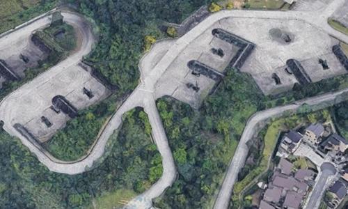 Vị trí triển khai tên lửa phòng không Patriot tại thành phố Đào Viên, Đài Loan bị bản đồ 3D của Google tiết lộ. Ảnh: CNA.
