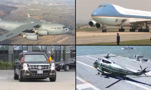 Những phương tiện thường được ông Trump mang theo khi công du