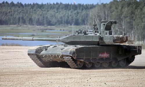 Xe tăng T-90M biểu diễn tại triển lãm Army 2018. Ảnh: Vitaly Kuzmin.