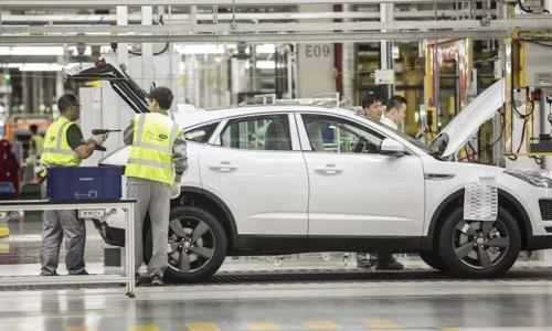 Jaguar E-Pace tại dây chuyền sản xuất của liên doanh JLR-Chery tại tỉnh Giang Tô, Trung Quốc. Ảnh: Bloomberg.