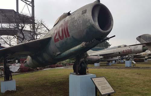 Máy bay Mic 17, loại máy bay các sỹ quan, chiến sỹ Triều Tiên được giao sử dụng, chiến đấu khi ở Việt Nam. Ảnh: Võ Hải.