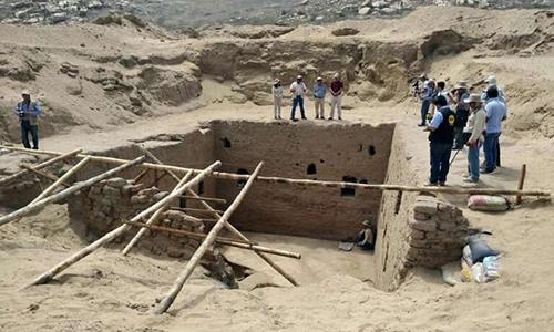 Ngôi mộ có diện tích hơn 60 m2 ở khu khảo cổ Mata Indio. Ảnh: Phys.