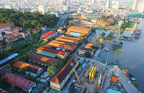 Ba Son là xưởng đóng tàu lâu đời và được đánh giá là di sản quý giá của Sài Gòn. Ảnh: Pháp luật TP HCM.
