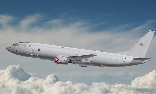 Một máy bay tuần thám P8 Poseidon của Anh. Ảnh: UKDJ.