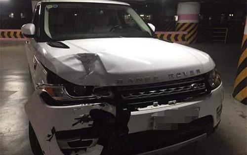 Chiếc ô tô nam tài xế lái gây tai nạn. Ảnh: Xuân Tân