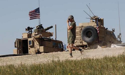 Lính Mỹ tại căn cứ Al-Tanf, phía đông Syria. Ảnh: AP.