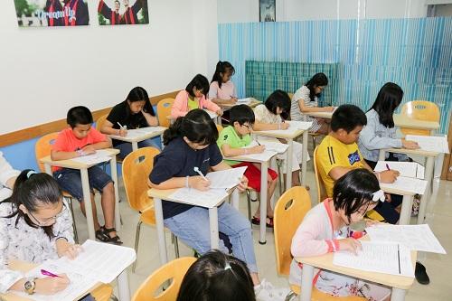 Lớp học hiện đại tại cơ sở mới.