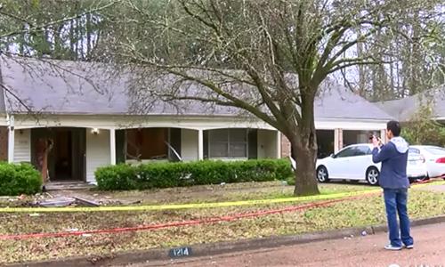 Ngôi nhà nơi xảy ra vụ nổ súng khiến 5 người thiệt mạngở thành phố Clinton, bang Mississippi, Mỹ. Ảnh: CBS News