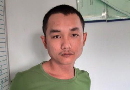 Huỳnh Văn Lộc tại cơ quan điều tra. Ảnh: C.A.