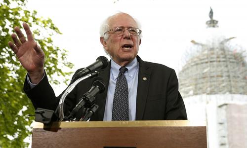 Thượng nghị sĩ MỹBernie Sanders. Ảnh: Reuters.