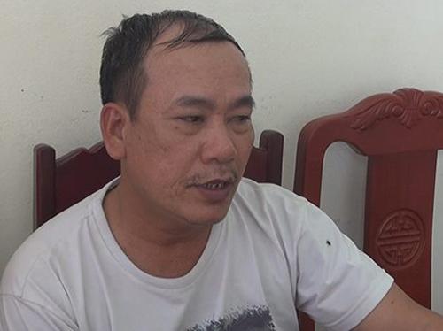 Nguyễn Huy Xô tại cơ quan điều tra. Ảnh: Lê Hoàng.